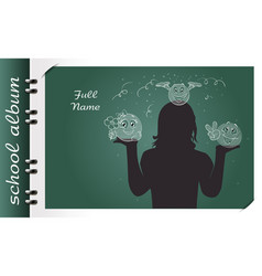 smile school album vector image