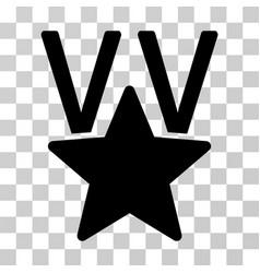 Star victory award icon vector