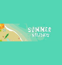 Summer beach vacation seaside sand tropical vector