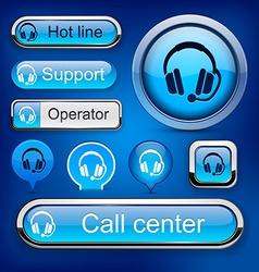 Support high-detailed modern buttons vector