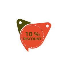tag discount label 10 percent vector image