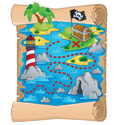 Treasure map theme image 5 vector