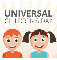 universal children day concept background cartoon vector image