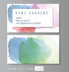 Visit card vector