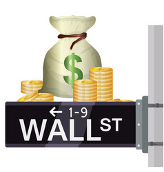 Wall street new york vector