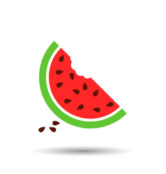 watermelon icon juicy ripe fruit on white vector image