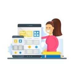Web Page Optimization - flat design website banner vector