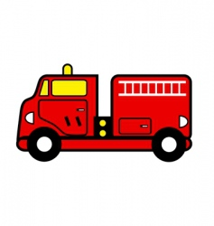 fire engine vector image