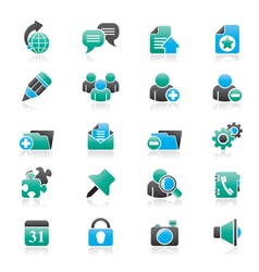 Internet blogging icons vector image