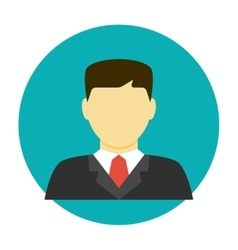 Lawyer avatar flat icon vector image vector image