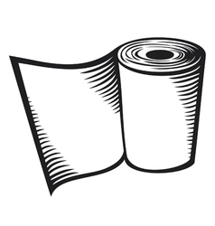 roll of toilet paper vector image vector image