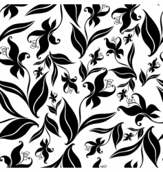 seamless vintage floral pattern with orchid vector image