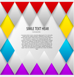 set of quote forms template colorful vector image