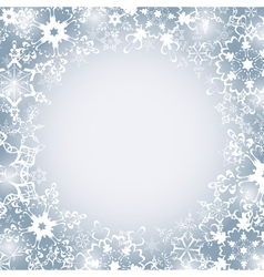 Winter seasonal frame with snowflakes vector image