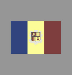 Flat icons on theme flag of andorra vector