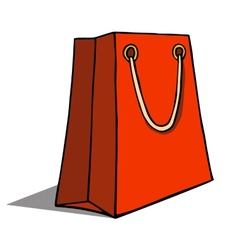 Red shopping bag on white vector image vector image