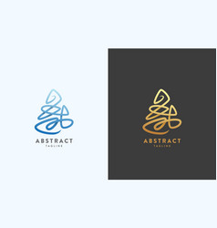 Abstract sign emblem or logo template vector