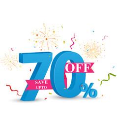 discount sale banner design vector image