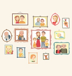 Family Portrait Gallery vector image vector image