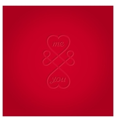 Infinite love symbol vector
