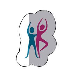 people couple dancing icon vector image vector image