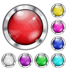 Set of opaque glass buttons vector image vector image