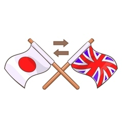 Translation to english icon cartoon style vector image vector image