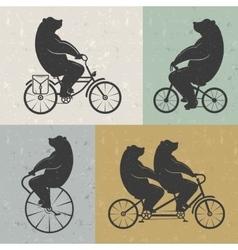 Vintage of Bear vector image vector image