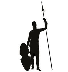 African Warrior vector image