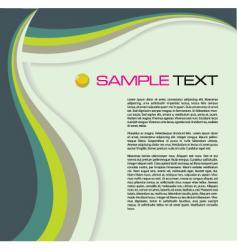 brochure wave vector image