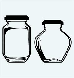 Glass jars vector image vector image
