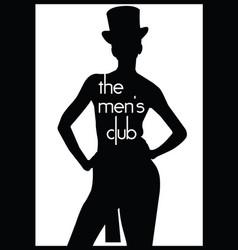 men s club vintage labels vector image