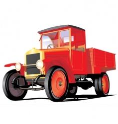 retro truck vector image vector image