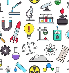 Science colorful pattern icons vector image vector image