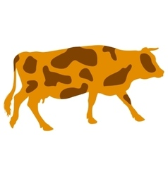 Silhouettes of spotted cow vector
