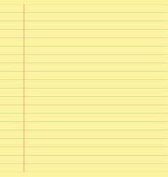 yellow lined paper vector image vector image
