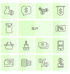 14 buy icons vector