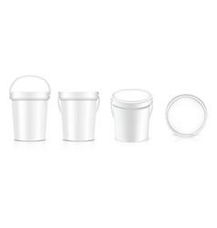 3d mock up realistic bucket bottle packaging vector