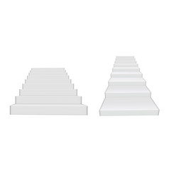 3d white clear realistic stairs isolated vector image