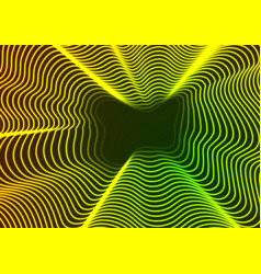 abstract bright neon waves background vector image