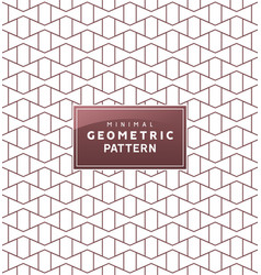 abstract geometric minimal pattern with seamless vector image
