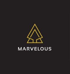 Abstract triangle logo template design emblem vector