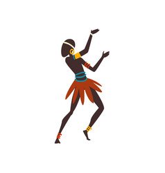 African man dancing folk or ritual dance male vector