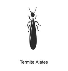 Alates termite iconblack logo vector