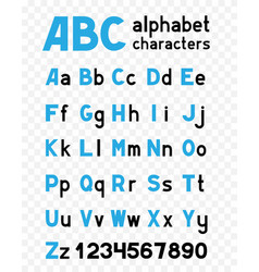 alphabet on transparent background vector image