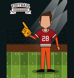 American football superbowl vector