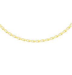 Arched gold chain arc isolated on white background vector