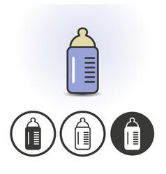 bamilk bottle icon vector image