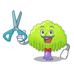 Barber isolated weeping willow on the mascot vector