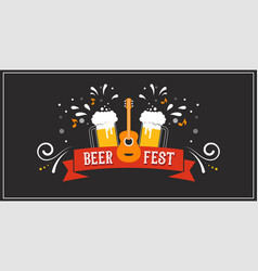beer festival banner event poster promotion vector image